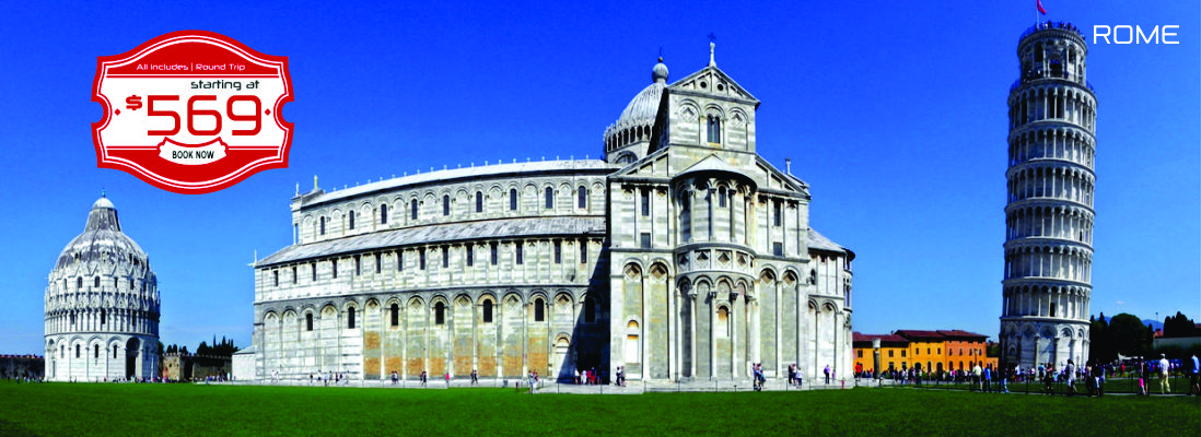 Rome as low as $569!